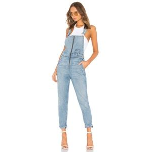 L+F Carson Overalls Distressed Zipper Jumpsuit XS